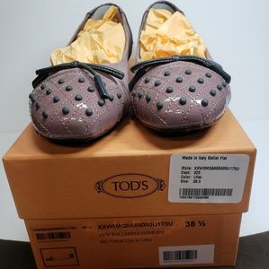 Tod's Lilac Suede & Patent Leather Ballet Flat